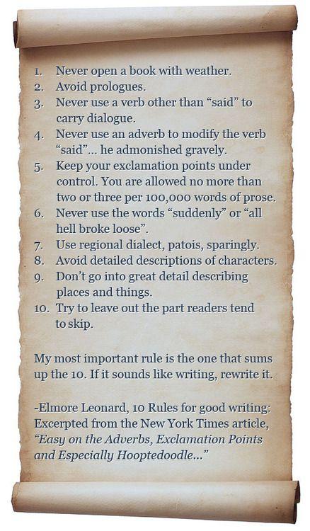 Elmore Leonard on writing